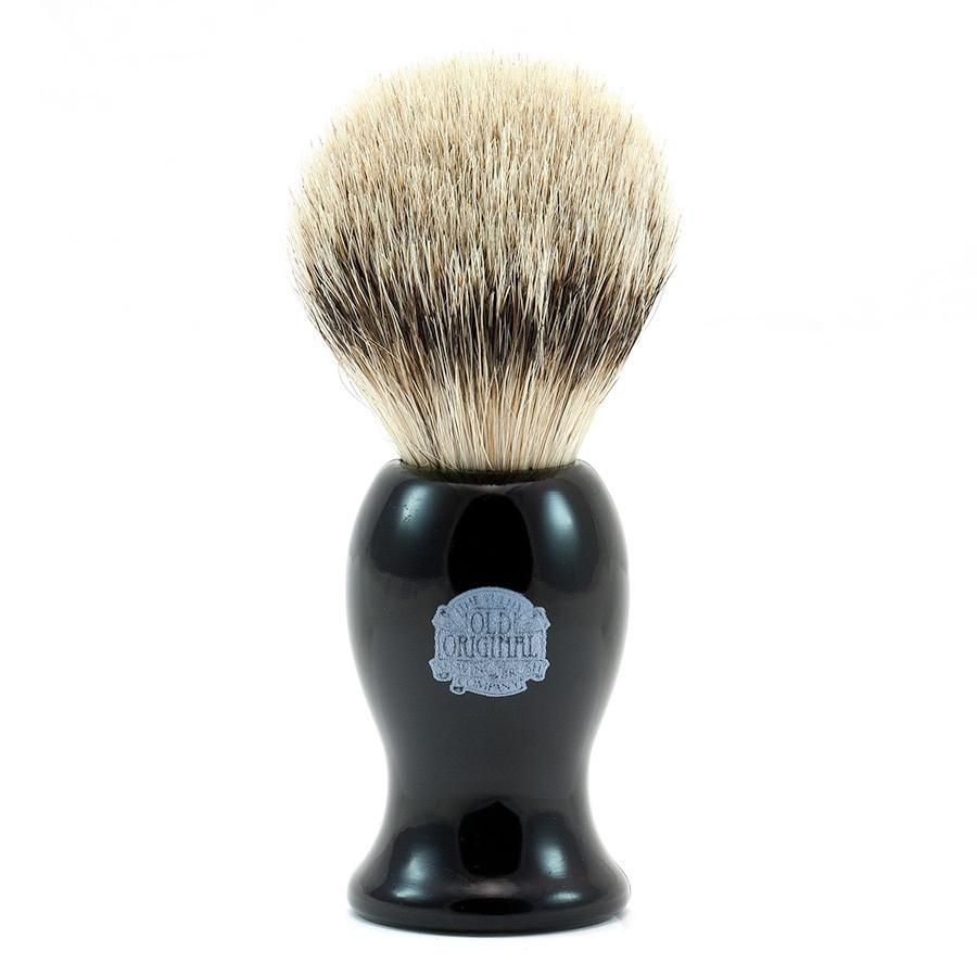 Vulfix 660S Large Super Badger Shaving Brush, Black Handle Badger Bristles Shaving Brush Vulfix