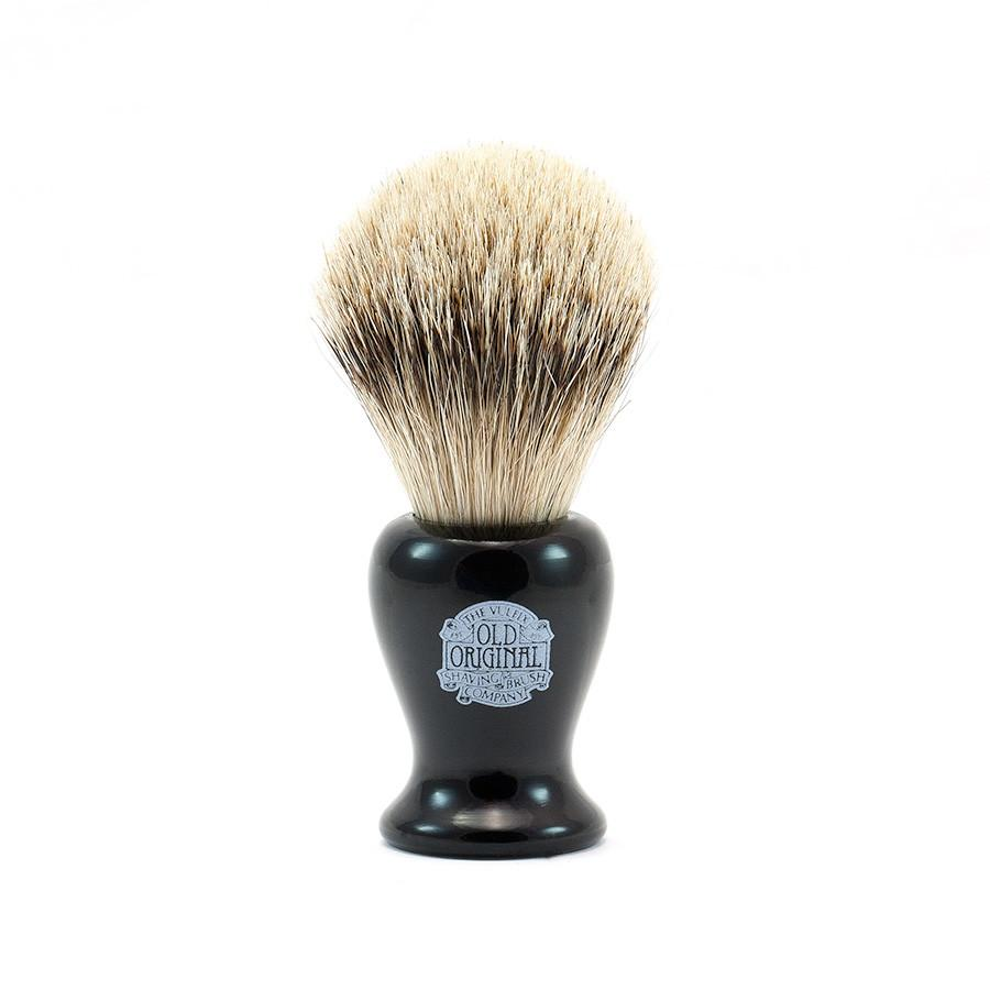 Vulfix 660S Small Super Badger Shaving Brush, Black Handle Badger Bristles Shaving Brush Vulfix