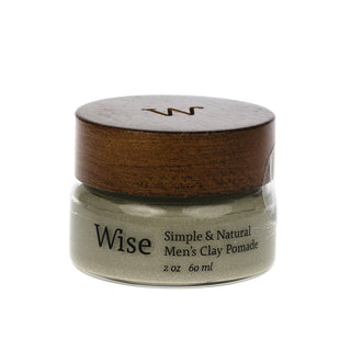 Wise Glacier Clay Pomade Hair Pomade Wise Reusable Glass Bottle - 2 fl oz (60 ml)
