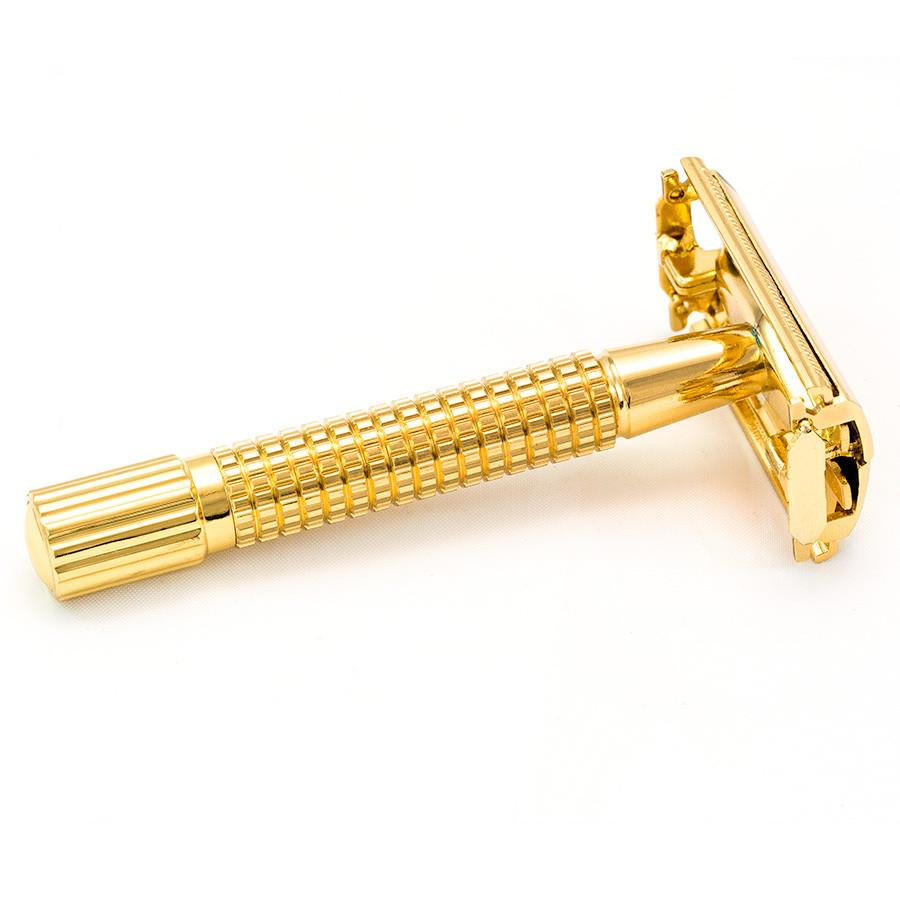 Weishi Gold Plated Classic Double-Edge Razor Double Edge Safety Razor Weishi