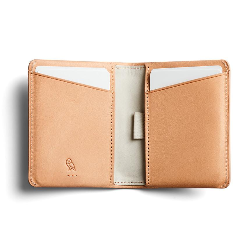 Bellroy Slim Sleeve Leather Wallet, Premium Edition Leather Wallet Bellroy Natural
