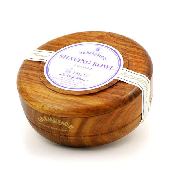 D.R. Harris Lavender Shaving Soap in Mahogany Color Wood Bowl - Fendrihan Canada
