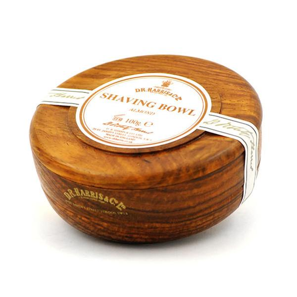 D.R. Harris Almond Shaving Soap in Mahogany Color Wood Bowl - Fendrihan Canada