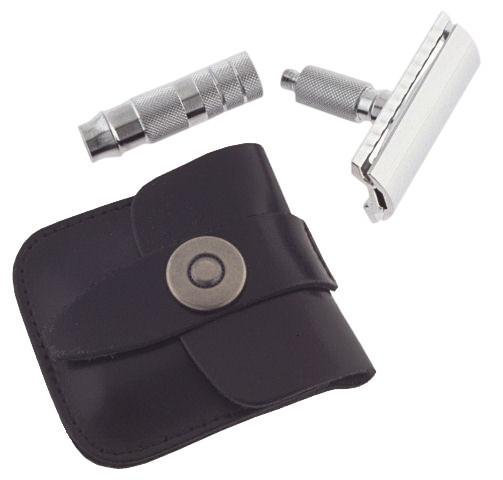 Merkur Travel Double-Edge Safety Razor & Case Double Edge Safety Razor Merkur