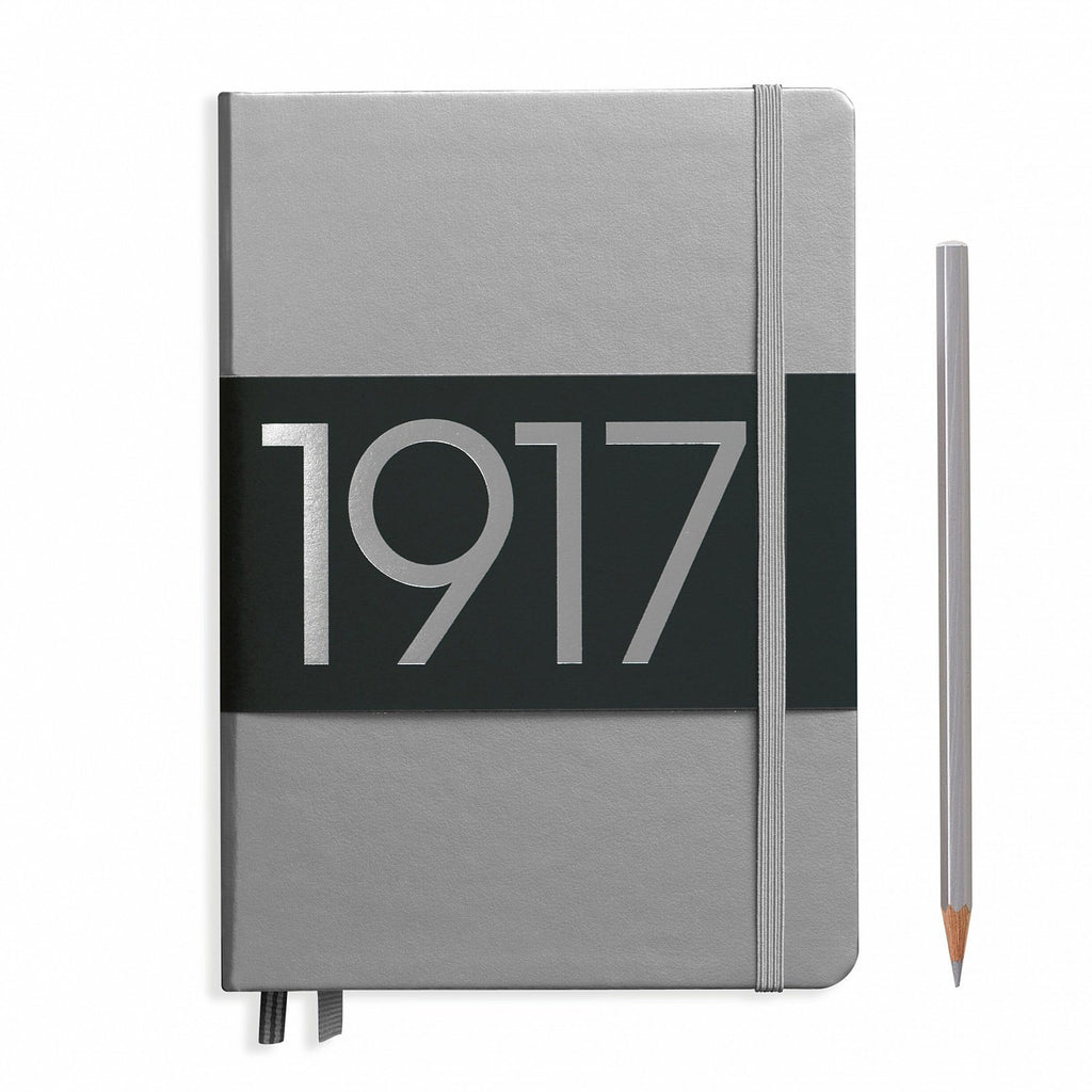 Leuchtturm1917 Special Edition Medium Hard Cover Notebook, Silver Notebook Leuchtturm1917