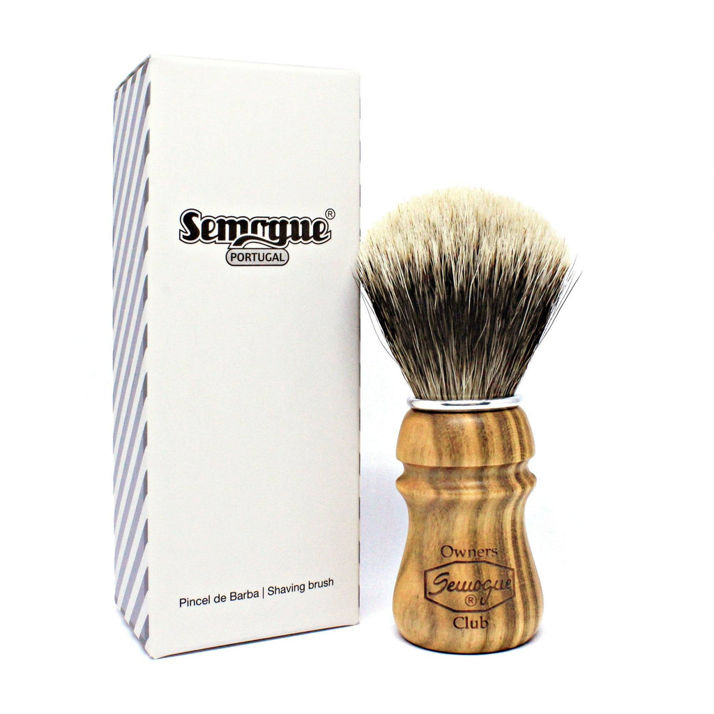 Semogue Owners Club 2-Band Badger Hair Shaving Brush, Cherry Wood Badger Bristles Shaving Brush Semogue