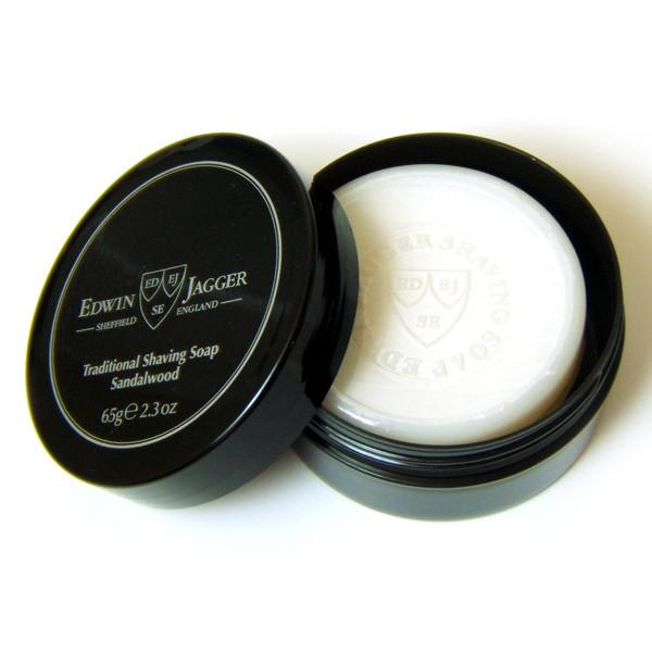 Edwin Jagger Sandalwood Natural Shaving Soap in Travel Container Shaving Soap Edwin Jagger