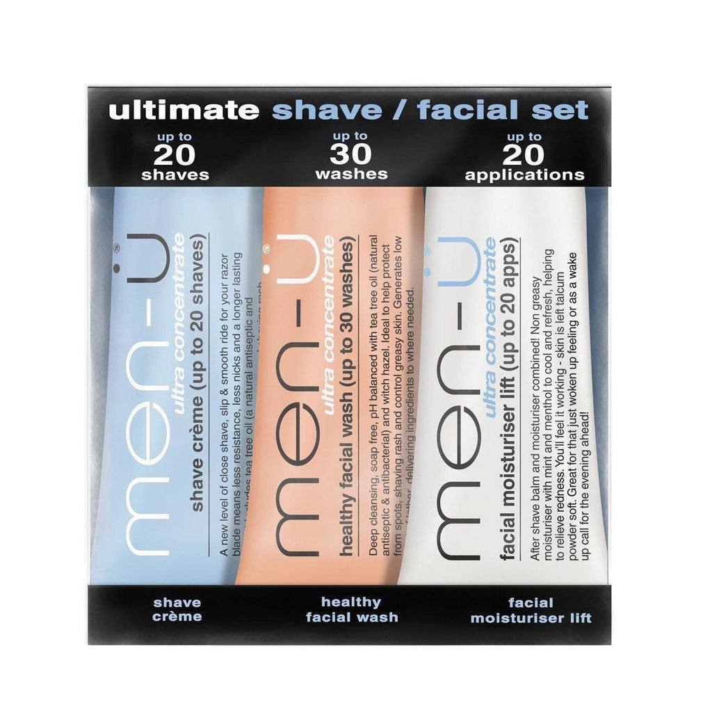 men-u Ultra Concentrated Shaving and Skin Care Intro Set Facial Care Men-U