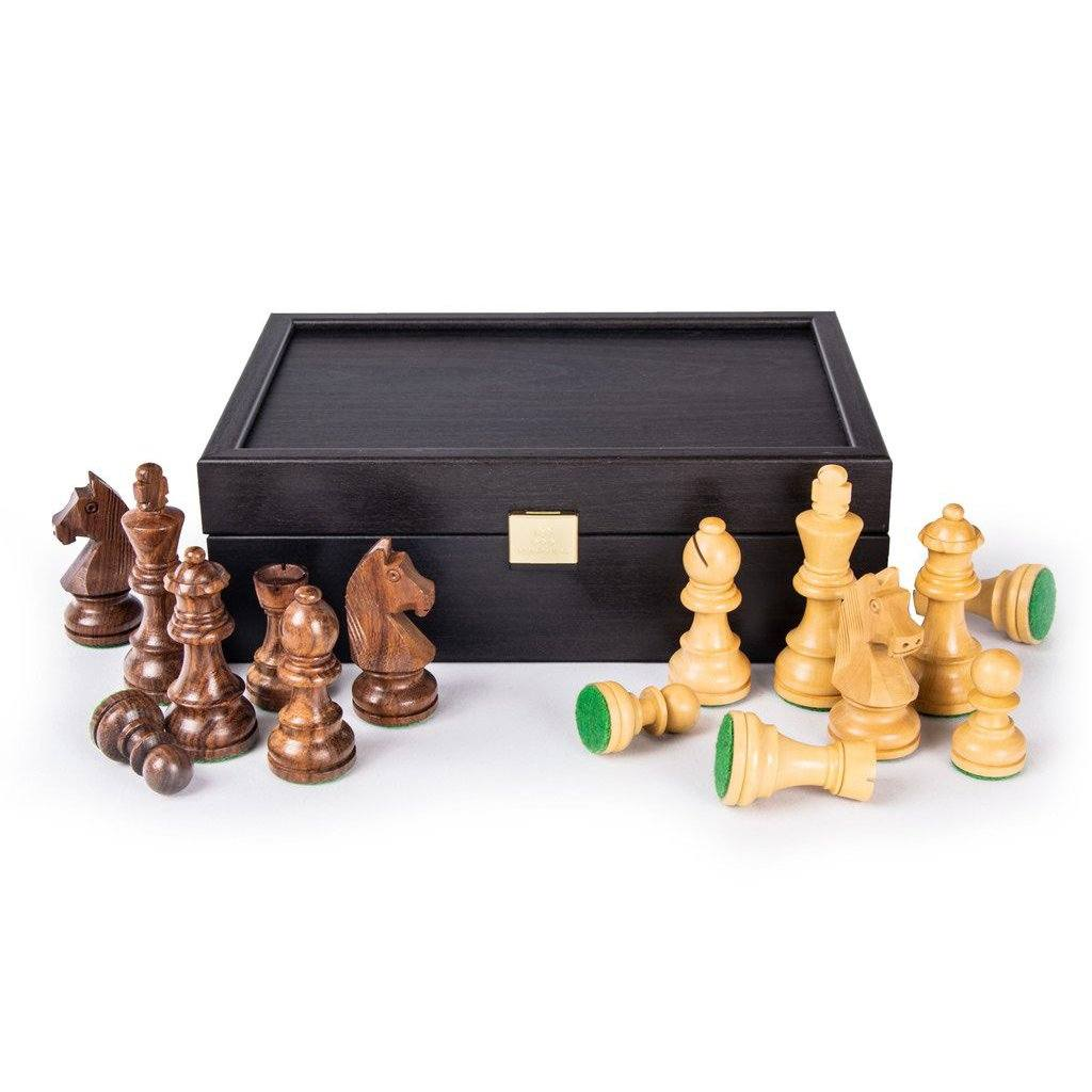 Manopoulos Wenge Wood Storage Case for Chessmen Storage Case Manopoulos