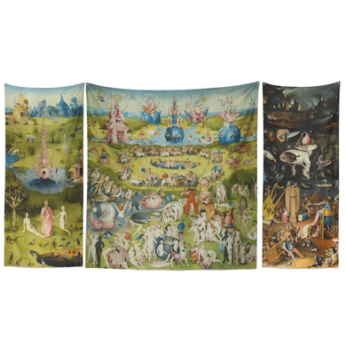 Earthly Delights Triptych Tapestry Set