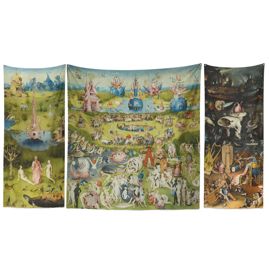 Earthly Delights Triptych Tapestry Set 103 x 60