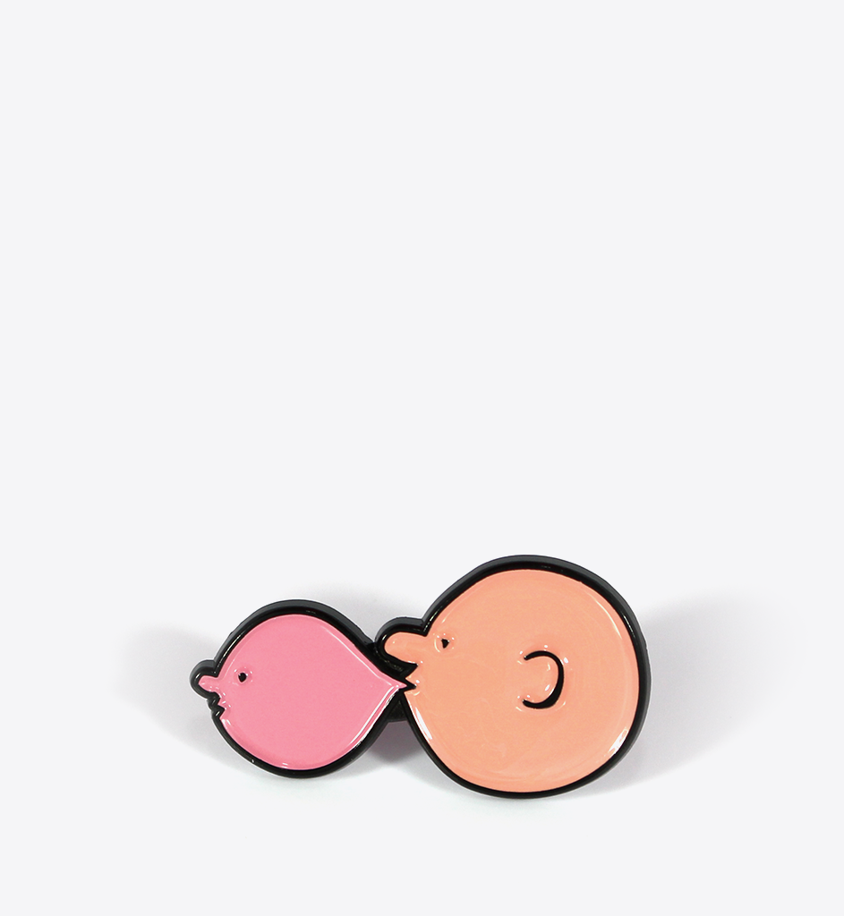 Jean Jullien Bubble Face Lapel Pin - BALL & CHAIN CO.
