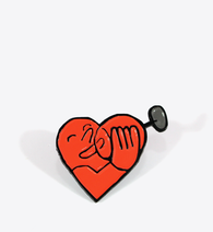 Jean Jullien Heart Wine Lapel Pin - BALL & CHAIN CO. - 1