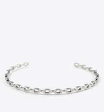 Load image into Gallery viewer, CHAIN BANGLE - SILVER - BALL & CHAIN CO. - 1