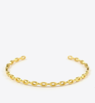 CHAIN BANGLE - GOLD - BALL & CHAIN CO. - 1