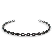 Load image into Gallery viewer, Chain Link Bangle - Black Gold