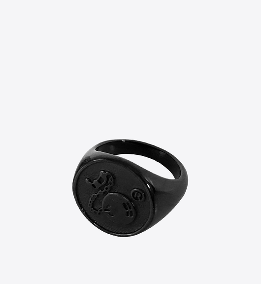LOGO RING BLACK