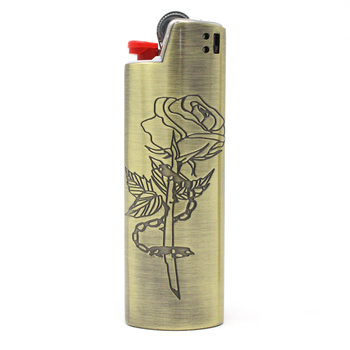 Chained Rose Lighter Case