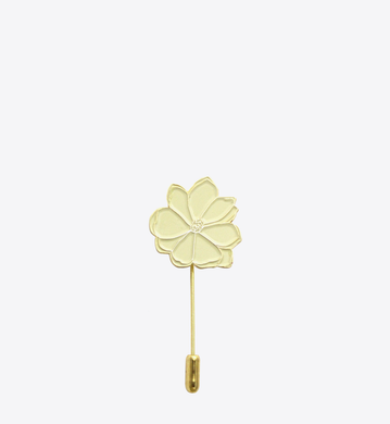 CREAM MAGNOLIA STICK PIN - BALL & CHAIN CO. - 1