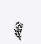 CHAINED ROSE LAPEL PIN - BALL & CHAIN CO. - 1