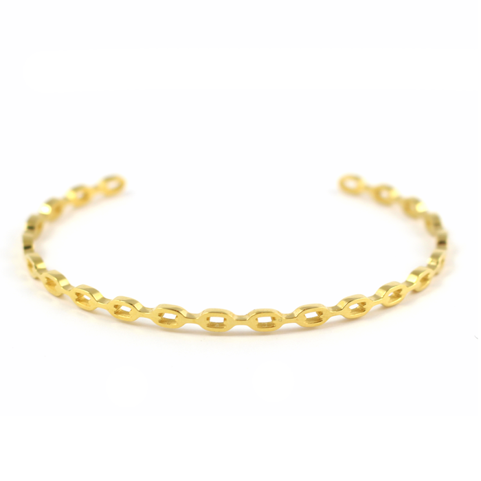 Chain Link Bangle - Gold