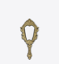 ANTIQUE GOLD MIRROR PIN - BALL & CHAIN CO.