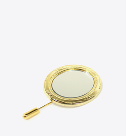 GOLD OVAL MIRROR STICK PIN - BALL & CHAIN CO.
