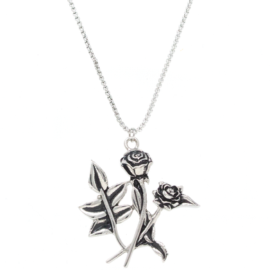 MP Rose Necklace Silver