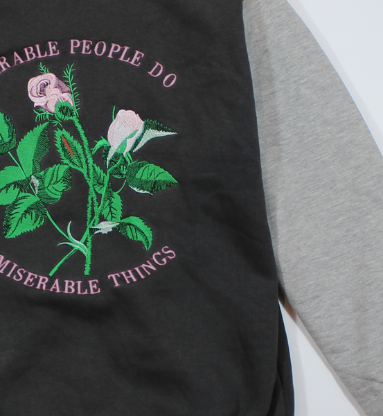 MISERABLE PEOPLE VARSITY JACKET - BALL & CHAIN CO. - 4