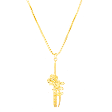 Rose Dagger Necklace - Gold
