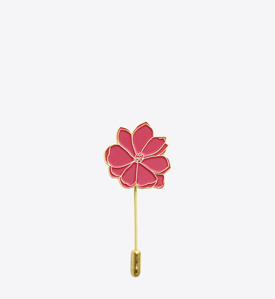 PINK MAGNOLIA STICK PIN - BALL & CHAIN CO. - 1