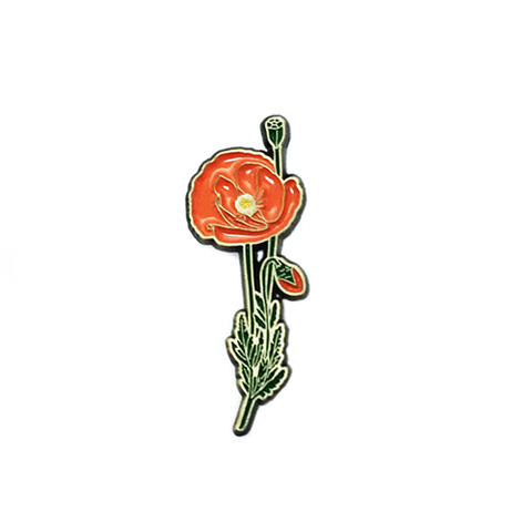 POPPY LAPEL PIN - BALL AND CHAIN CO.