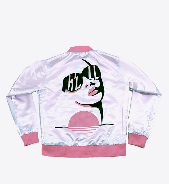 HELL FROM PARADISE SATIN BOMBER - BALL & CHAIN CO. - 2