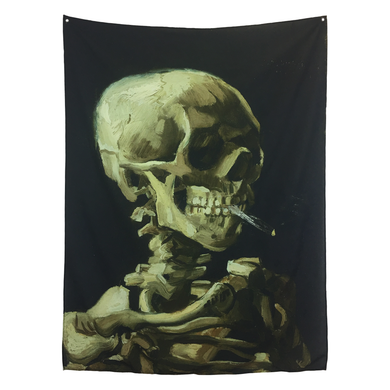 Smoking Skull Tapestry