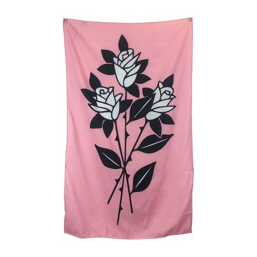 Pink Roses Tapestry 36 x 60