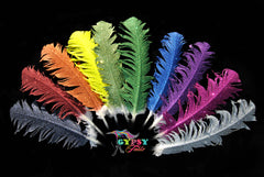 Large Neon Glitter Horse Feathers