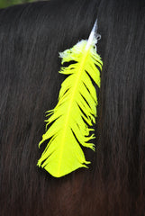 Large Neon Yellow Horse Feather
