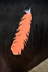 Large Neon Orange Horse Feather