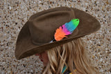 Small Jaylee Glitter Hat Feather