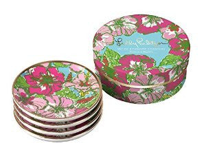 Lilly Ceramic Coaster Set