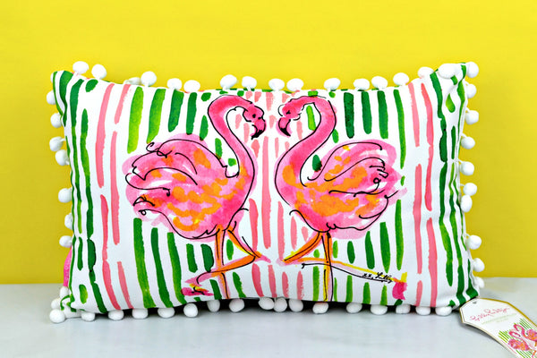 Lilly Medium Flamingo Pillow