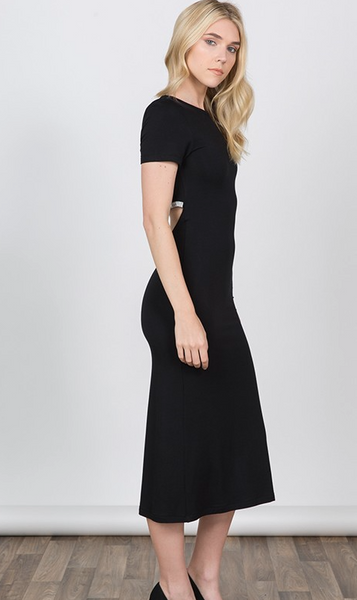 Stone Back Trim Cab Length Dress