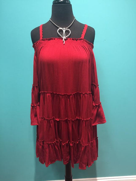 Ruffle Cut Out Dress