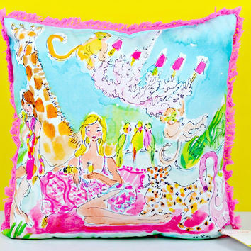 Lilly Large Zoo Party Pillow