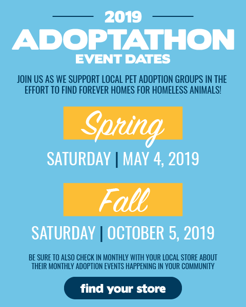 2019 Petsense Adoption Event Dates | May 4 & October 5