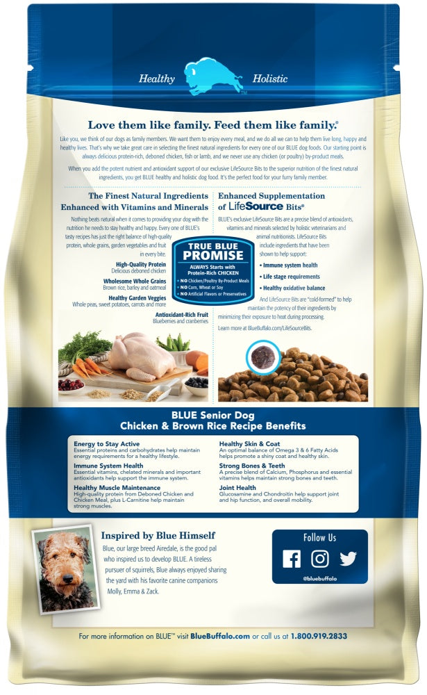 Blue Buffalo Life Protection Natural Chicken & Brown Rice Recipe Senior Dry Dog Food