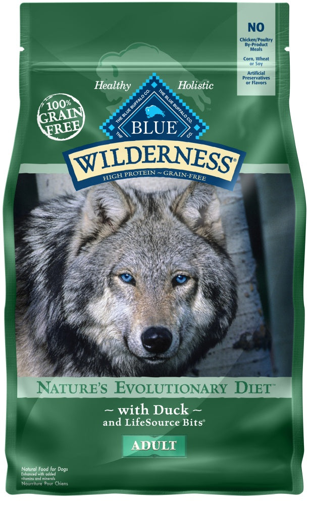 Blue Buffalo Wilderness Grain Free High Protein Duck Recipe Dry Dog Food