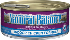 Natural Balance Indoor Formula Canned Cat Food