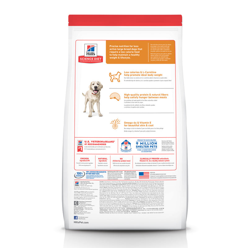 Hill's Science Diet Large Breed Light Chicken Meal & Barley Dry Dog Food