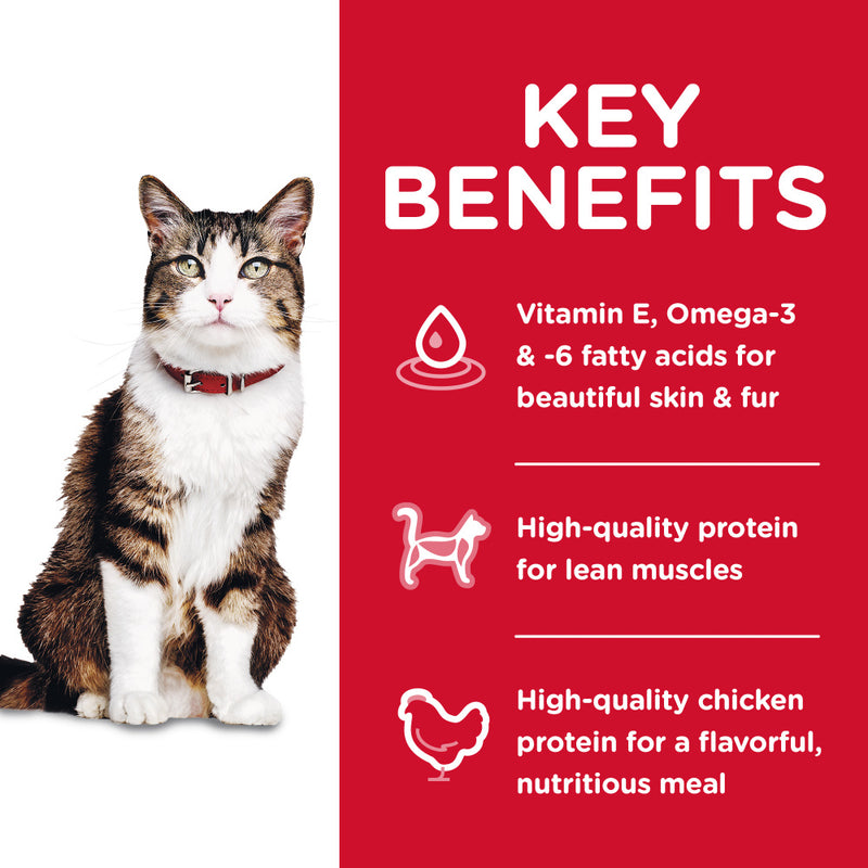 Hill's Science Diet Adult Hairball Control Chicken Recipe Dry Cat Food